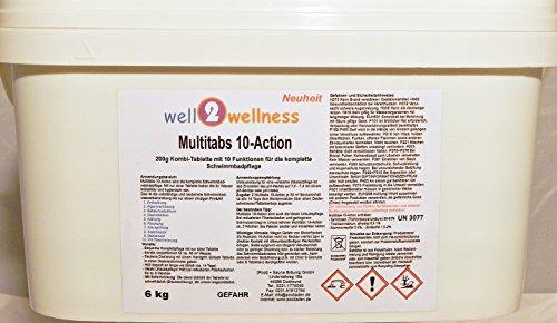 Chlortabletten Multitabs 10-Action 200g mit 10 Funktionen - 12 kg (2 x 6 kg)