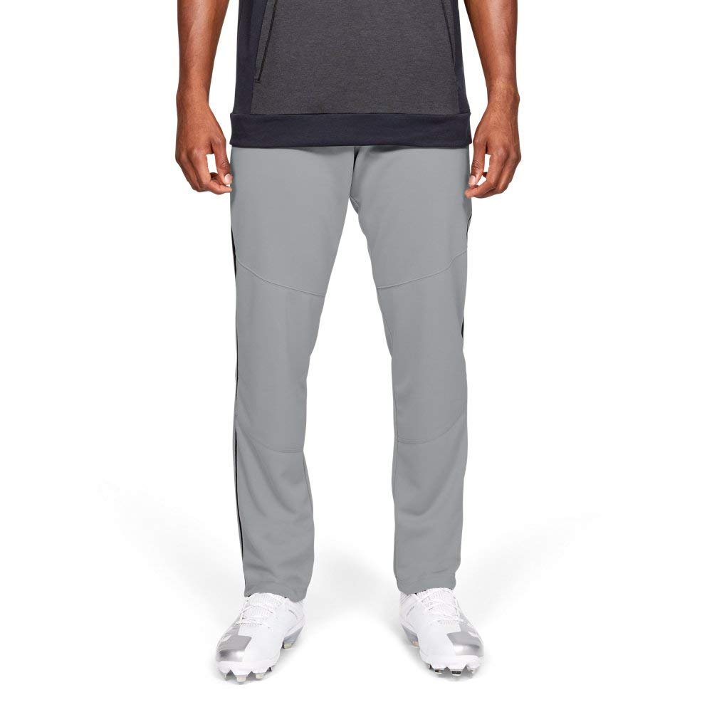 Under Armour Men's IL Utility Relaxed Pants Pipe, Baseball Gray (080)/Black, Small