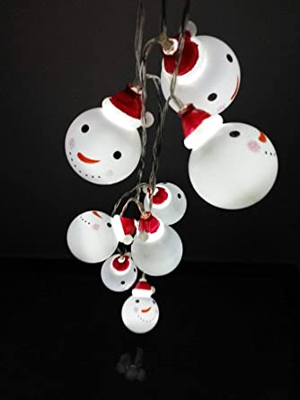 Weihnachtsdeko Aussen Schneemann.Shanke Led Lichterkette Schneemann Weihnachtsbeleuchtung Höhe Batterie Außen Deko Transparentes Kabel Beleuchtet Weihnachtsdeko 3 5m 20 Led Für