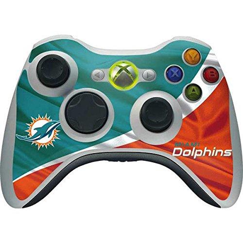 Skinit NFL Miami Dolphins Xbox 360 Wireless Controller Skin - Miami Flag Design Design - Ultra Thin, Lightweight Vinyl Decal ()