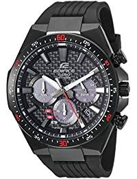 Men's 'Edifice' Quartz Stainless Steel and Resin Casual...