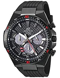 Casio Men's 'Edifice' Quartz Stainless Steel and Resin Casual Watch, Color Black (Model: EQS-800CPB-1AVCF)