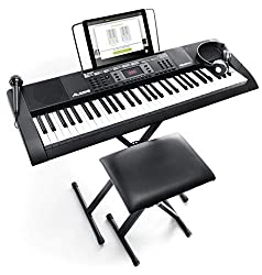 Learning to play the keys just got a whole lot easier! The Alesis Melody 61 MKII keyboard combines 61 piano style keys, 300 built in sounds with layering and split modes, 300 built in rhythms for playing along to, 40 demo songs, an easy-to-assemble s...