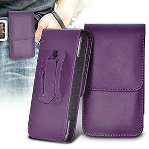 ONX3 Nokia Lumia 630 Dual SIM Leather Slip Protective PU de cordón en la bolsa de la liberación rápida y 12v Micro USB cargador de coche (negro)