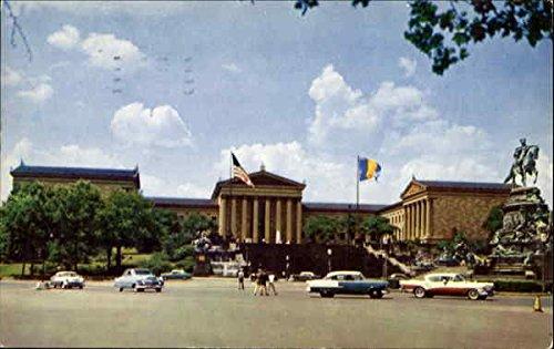 Philadelphia Museum Of Art And Washington Monument Philadelphia, Pennsylvania Original Vintage Postcard (Vintage Museum)