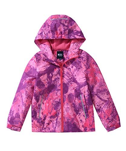 M2C Girls Outdoor Fleece Lined Waterproof Jacket 10/12 Violet Pink