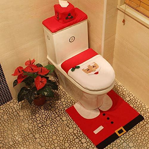 Amazon Com Weahre 3pcs Lot Santa Toilet Seat Cover Funny