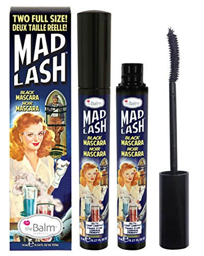 theBalm Mad Lash Full Size Duo Voluminous Mascara Set, Black, Cruelty-Free