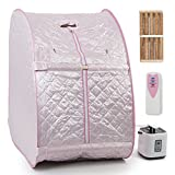 Pink Portable Therapeutic Sauna With Ebook