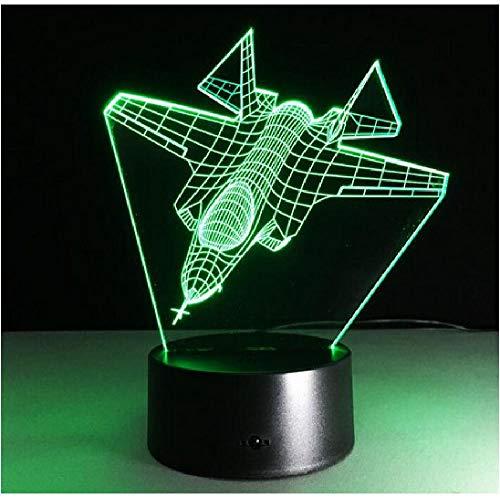 3D Flugzeug Nachtlicht LED Toy Boy Geschenk Luftkampfflugzeug Kämpfer Schreibtischlampe Military Jet Aircraft Visuelle…