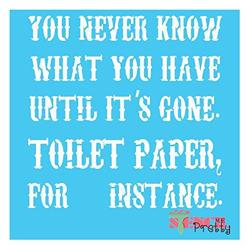 Cheap  Funny Bathroom Quote Stencil - DIY Toilet Sign - Multipack (S,M,L)