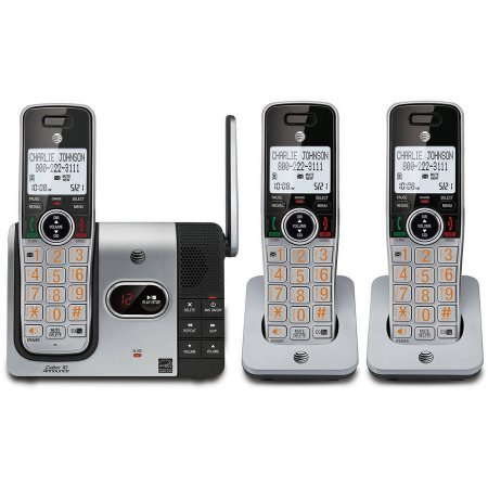 Caller Id Handset (AT&T CL82314 DECT 6.0 Expandable Cordless Phone with Answering System and Caller ID, 3 Handsets, Silver/Black)