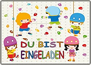 Invitaciones Cumpleaños infantiles Escalada Invitación - 11 ...