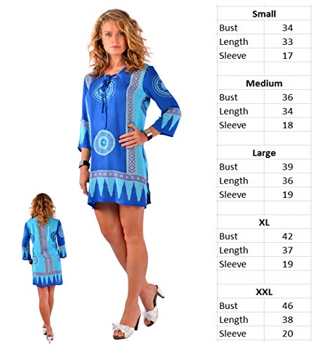 Tunic Abstract World Womens Tiki 1 Sarongs Rose Cover up twgXq7Ux