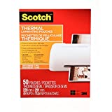 Scotch Thermal Laminating Pouches, 8.97 x 11.45-Inch (Per Pouch), 5-Mil Thickness, 50 Pouches Per Pack, (TP5854-50-C)