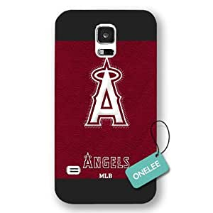 Onelee(TM) - MLB Team Los Angeles Angels of Anaheim Logo Samsung Galaxy S5 Case & Cover - Black Frosted