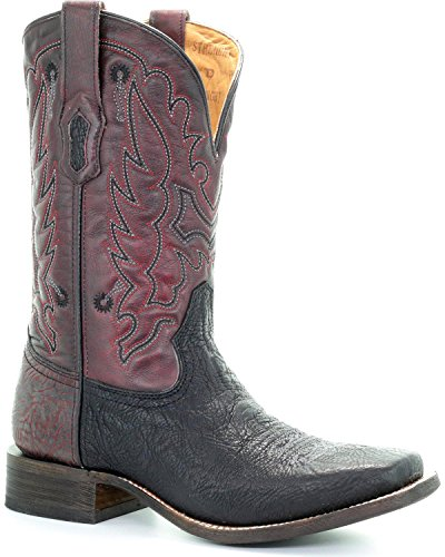 CORRAL Mens Men'S Embroidered Tyson DURFEY Performance Line TD Boot - A3514 Black jwdbBCe