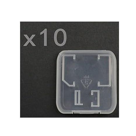 Vanki® Pack de 10 plástico Transparente Funda para Tarjetas ...