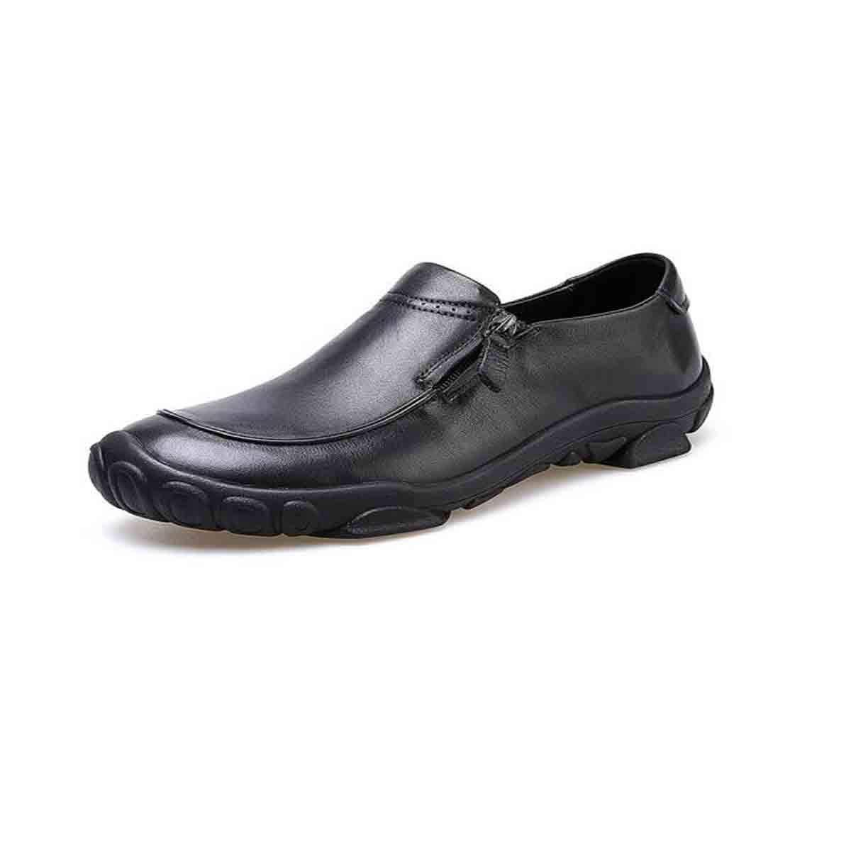 noir 38 yards GUYUEXUAN Chaussures de Sport, Tendance de la Mode coréenne, Chaussures for Hommes polyvalentes, Personnalité de la Fermeture éclair, Ensemble de Chaussures de Sport, Noir