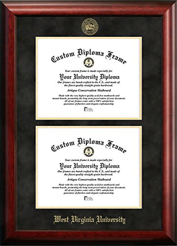 west virginia university double degree diploma frame other - Wvu Diploma Frame