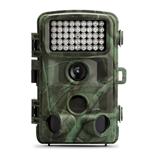 Trail Camera, TEC.BEAN 12MP 1080P Full HD Game & Hunting Camera with 34pcs 850nm IR LEDs Night Vision up to 75ft/23m IP66 Waterproof 0.6s Trigger Speed for Wildlife Observation and Security