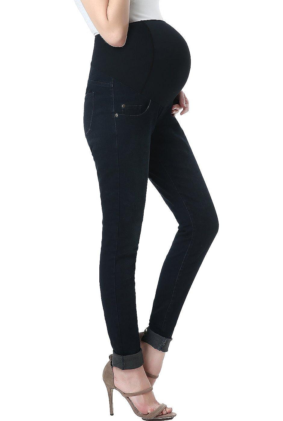 Momo Maternity Women's Skinny Leg Denim Jeans
