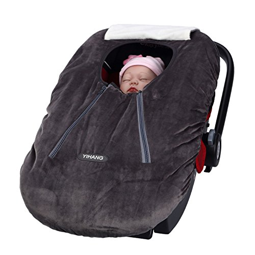 YIHANG Nursing Cover, Baby Car Seat Covers for Girls and Boys,Infant Car Seat Cover for Autumn and Winter (Series 3,Grey)