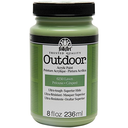 FolkArt Outdoor Paint in Assorted Colors 8 oz, 6250 Lawn