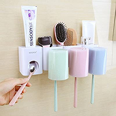 Automatic Toothpaste Dispenser Wall Mount Dust-Proof Toothpaste Squeezer #Z