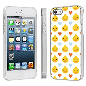 Apple iPhone 5 Hard Plastic Cover Case - Cute Ducky White By SkinGuardz