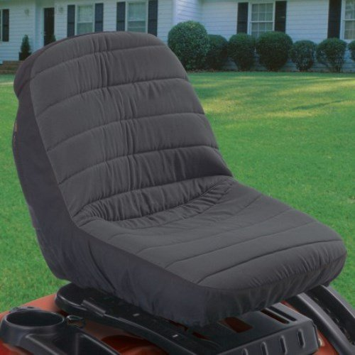 Classic Accessories Deluxe Tractor Seat Cover, Small, Dk Grey with Black Trim