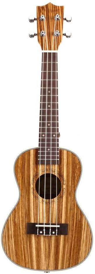 ZGHNAK Ukelele Guitarra Acústica Ukelele Zebrawood 15 Fret 4 ...