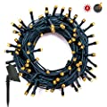 RPGT Solar String Lights 100/200/300/400/500 LED USB Charging Fairy String Lights Waterproof 8 Modes Solar Powered Starry Lighting for Outdoor Christmas Tree Garden Wedding Party Holiday Decoration (Blue/White/Multicolor/Warm White)