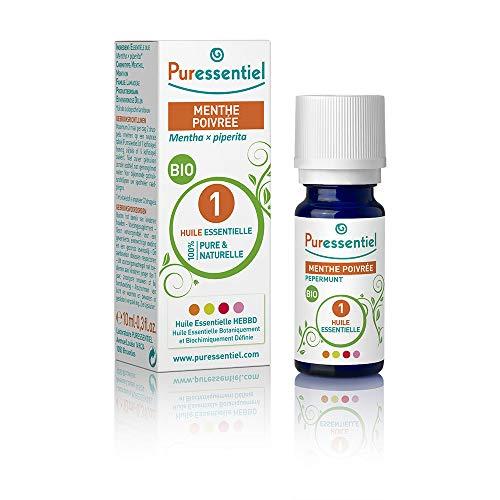 Puressentiel – Huile Essentielle Menthe Poivrée – Bio – 100% pure et naturelle – HEBBD  – 10 ml