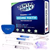 Professional Teeth Whitening Kit for Home Use - Made in USA - includes 2 Whitening Gel, 2 Tooth Remineralization Gel, Whitening Trays and LED Accelerator Whitener Light for Faster Results.