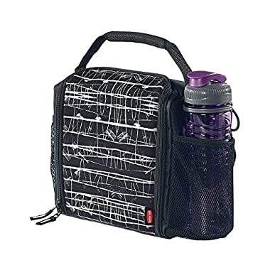 Rubbermaid LunchBlox Lunch Bag, Medium, Black Etch, Black, (1813501)