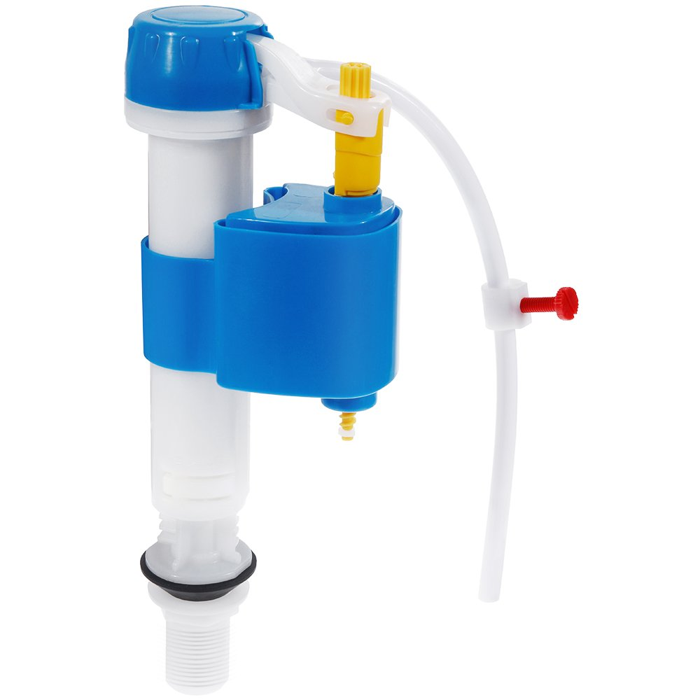 Rovtop Toilet Fill Valve with Adjustable Quick Shut Off and Perfect Flush Anti-Siphon