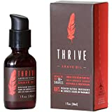 Thrive Natural Shave Oil for Men - Replaces Pre-Shave Oils, Shaving Creams, Gels, and Foams; Made with Organic and Unique Premium Natural Ingredients for Healthier Skin - 1 oz/30 ml