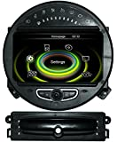 Dectek® GPS Navigation For BMW Mini Cooper 2011 2012 2013 with 7 inch Digital HD Touchscreen with iPod BT Radio RDS FM AM Rear camera input + DVD Player+TMC (Free Rear View Camera and Free Map Card)