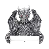 Nemesis Obsidian Gothic Dragon Toilet Roll Holder - Stunning Dragon in Your Bathroom