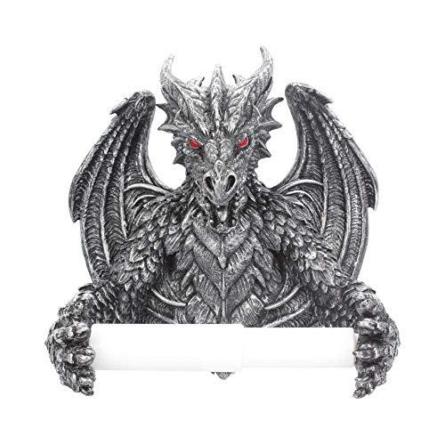 (Nemesis Obsidian Gothic Dragon Toilet Roll Holder - Stunning Dragon in Your Bathroom)