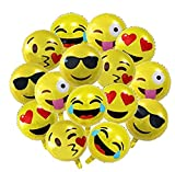 HOOHII 15Pcs Foil Balloons 18inch Emoji Balloons Halloween Decorations Christmas Party Supplier