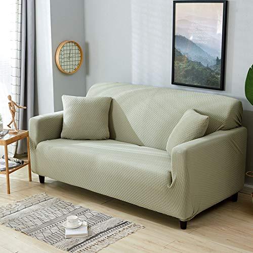 BDZQS Solid Colour Stretch Sofa Cover Protector Elastic Modern Simple Sofa Shield Futon Cover/Machine Washable (Color : Army Green)