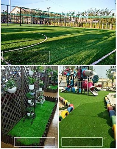 人工芝屋外緑 25mm杭の高さの人工芝、このリストの5サイズから選択、安いナチュラル&リアルなアストロガーデン芝生、2 x 0.5mの格安高密度フェイクターフ 高密度偽の芝生犬 (Size : 2x3.5m)