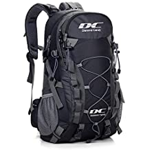 Hiking Backpack 40L Waterproof Outdoor - Diamond Candy Lightweight Travel Backpacks for Men and Women with Rain Cover, Bag for Mountaineering Camping Climbing Cycling Fishing