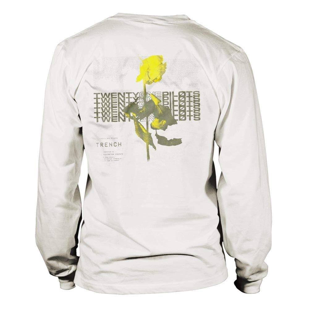 Twenty One Pilots Official White Long Sleeve T Shirt 21 Rose Trench