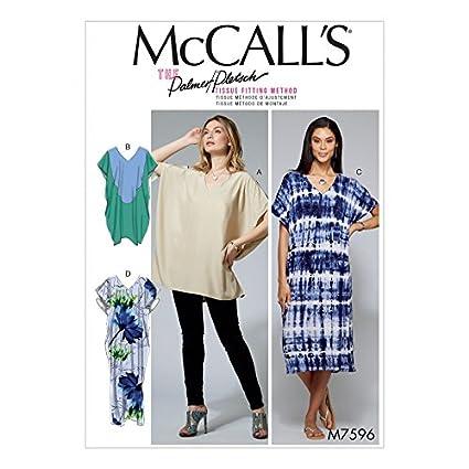 b1ea951b299b1 Amazon.com  McCalls Ladies Sewing Pattern 7596 Loose Fitting V Neck ...