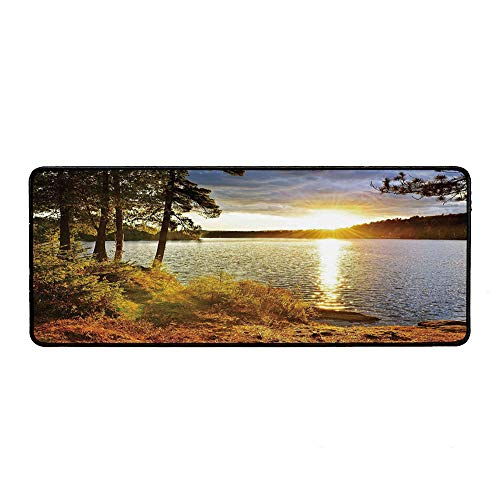 Landscape Ordinary Mouse Pad,Sunset Dawn in The Forest Over Lake of Two Rivers Algonquin Park Ontario Canada for Computers Laptop Office & -
