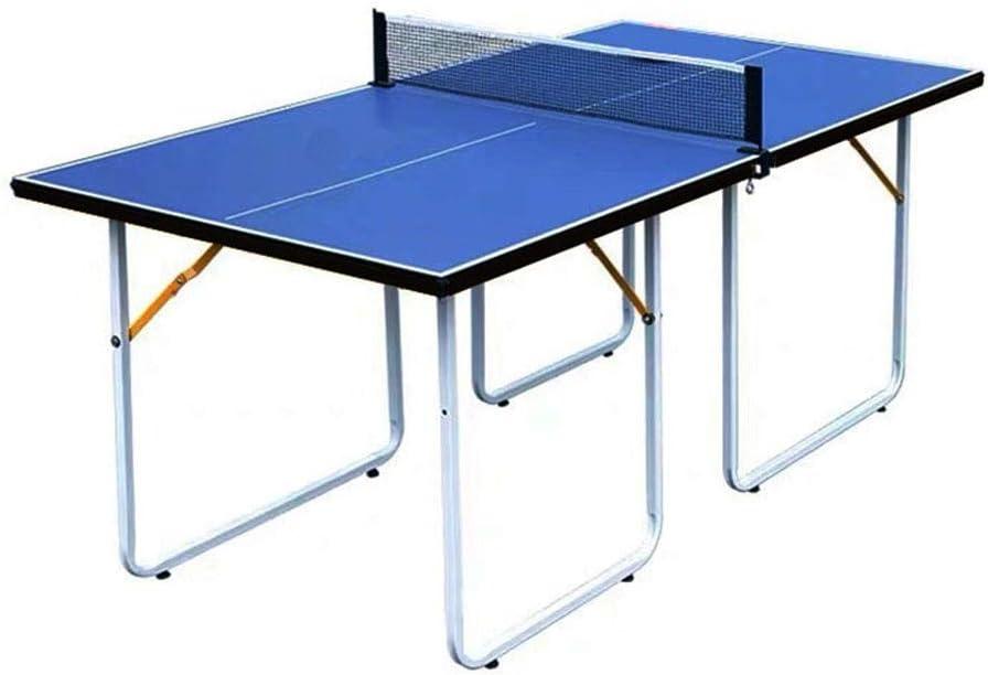 LiChenYao Mesas De Tenis De Mesa con 2 Paletas Y Pelotas, Mesa De Ping Pong Interior De Tamaño Medio Y Plegable para Entretenimiento En El Hogar, Partido Deportivo En Interiores