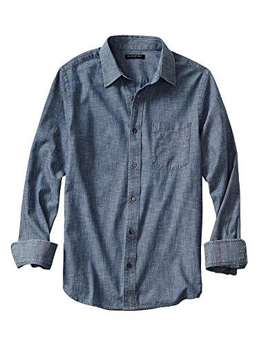 banana-republic-soft-wash-slim-fit-long-sleeve-button-down-shirt-medium-chambray-blue